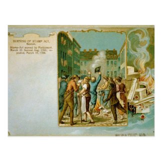 Burning of the Stamp Act in Boston Massachusetts Postcard