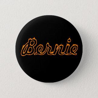 Burning Orange Cursive Bernie Sanders 2 Inch Round Button