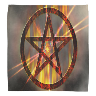Burning Pentagram Bandana
