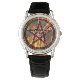 Burning Pentagram Wristwatches