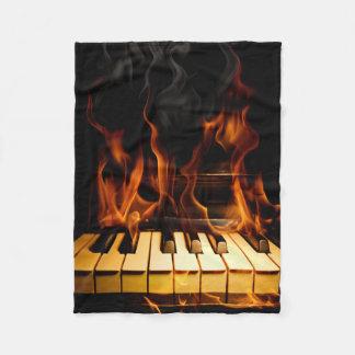 Burning Piano Small Fleece Blanket