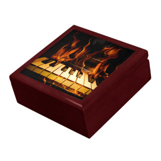Burning Piano Trinket Box