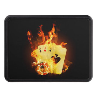 Burning Poker Cards Hitch Cover
