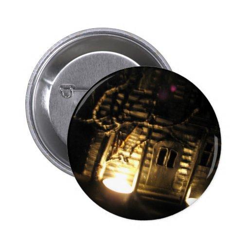 Burning Porch Pinback Button