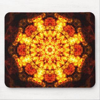 Burning Reality Mandala Mouse Pad