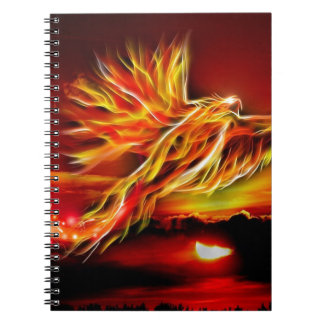 Burning Red Flying Phoenix Garden of Tarot Notebooks
