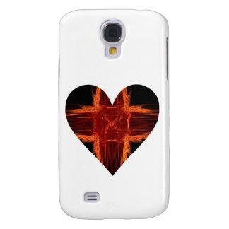 Burning Red Tic Tac Toe Fractal Art Heart