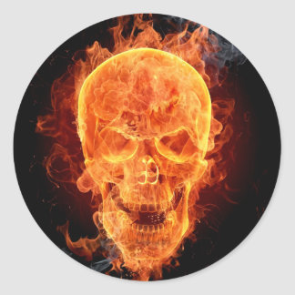 Burning Skeleton Sticker