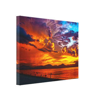 Burning Sky Stretched Canvas