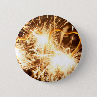 Burning sparkler in form of a heart 2 inch round button