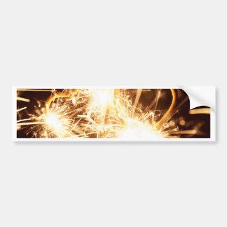 Burning sparkler in form of a heart bumper sticker