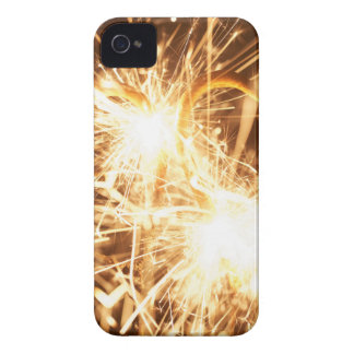 Burning sparkler in form of a heart iPhone 4 Case-Mate case