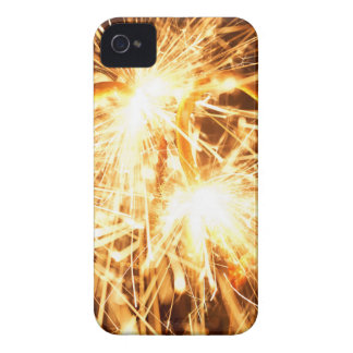 Burning sparkler in form of a heart iPhone 4 cases