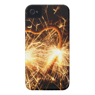 Burning sparkler in form of a heart iPhone 4 cover