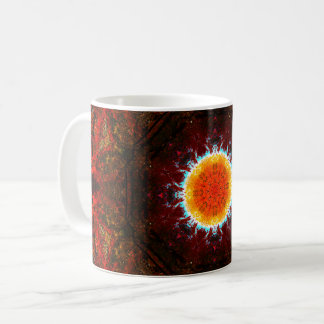 Burning Sun Mandala Coffee Mug