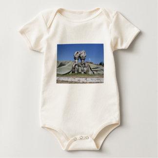 Burning torch sculpture Buzludzha monument Baby Bodysuit