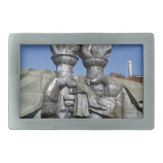 Burning torch sculpture Buzludzha monument Belt Buckle