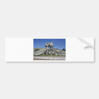 Burning torch sculpture Buzludzha monument Bumper Sticker