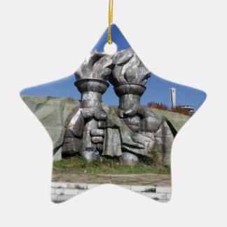 Burning torch sculpture Buzludzha monument Ceramic Ornament