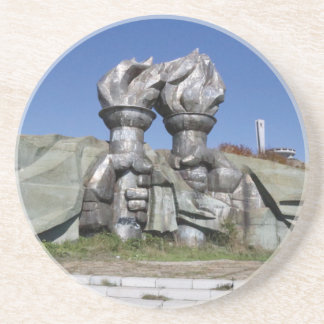 Burning torch sculpture Buzludzha monument Coaster