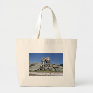 Burning torch sculpture Buzludzha monument Large Tote Bag
