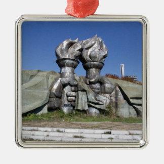 Burning torch sculpture Buzludzha monument Metal Ornament