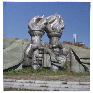 Burning torch sculpture Buzludzha monument Napkin
