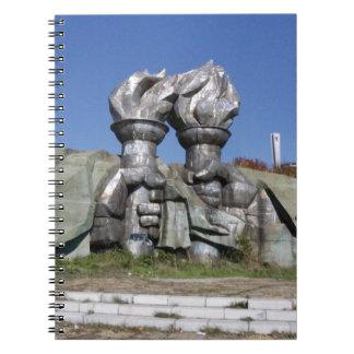 Burning torch sculpture Buzludzha monument Notebook