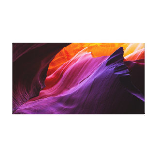 Burning Twilight - Antelope Canyon Rock Formations Canvas Print