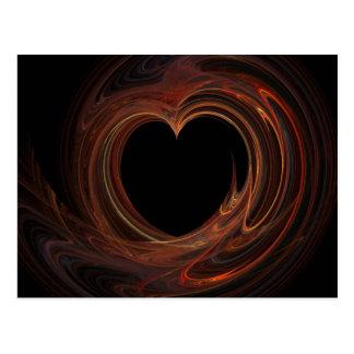 Burning Valentine's Heart Postcard