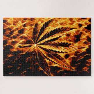 Burning Weed Jigsaw Puzzle