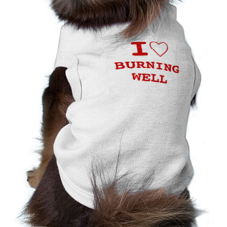 BURNING WELL I heart (love) Pet Clothing