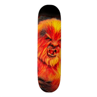 Burning Wolf man Park Board Custom Skateboard