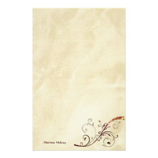 Burnished Gold Swirl Customizable Stationery
