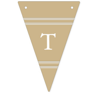 Burnished Matte Gold Wedding Bunting Flags