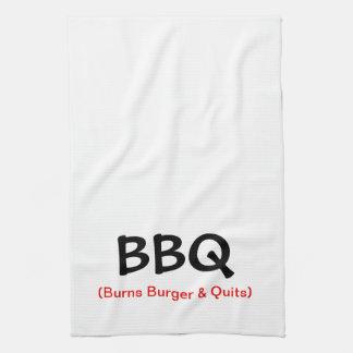 Burns Burger & Quits BBQ Kitchen Towel