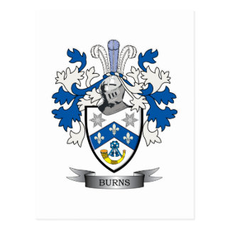 Burns Family Crest Coat of Arms Postcard