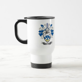 Burns Family Crest Coat of Arms Travel Mug