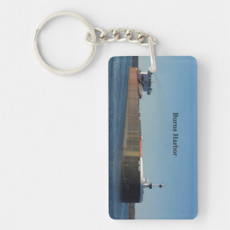 Burns Harbor rectangle acrylic key chain