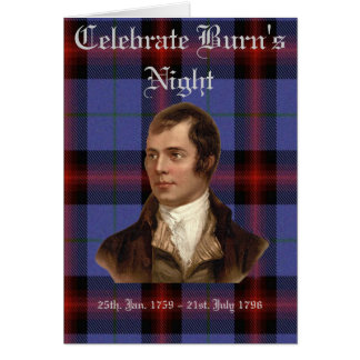 BURN'S NIGHT GREETING CARD