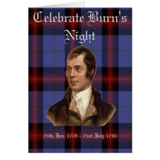 BURN'S NIGHT GREETING CARD