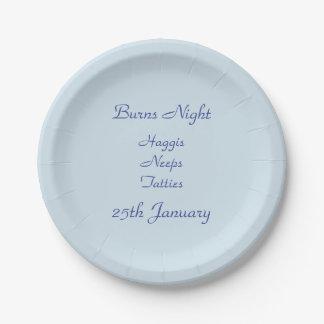 Burns Night Paper Plate