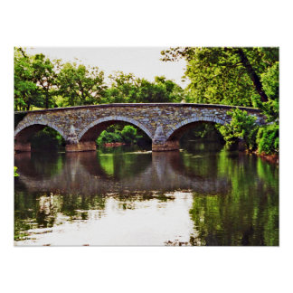 Burnside Bridge Antietam Poster