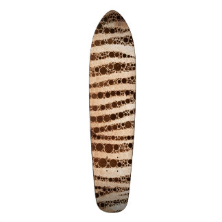 Burnt Abstract tiger Skate Board