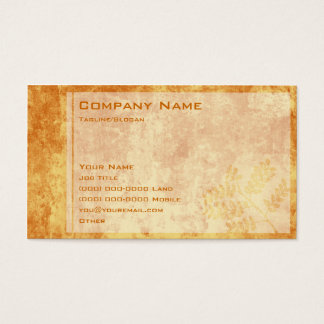 Burnt Autumn Business Card