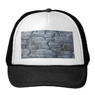 Burnt black wood trucker hat