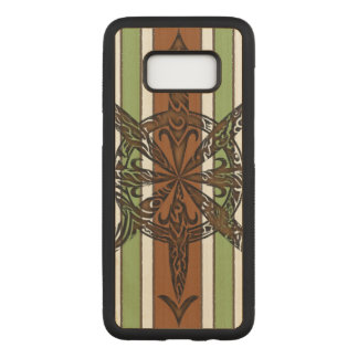 Burnt Chaos Maple Hardwood Carved Samsung Galaxy S8 Case