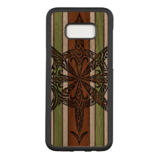 Burnt Chaos Walnut Hardwood Carved Samsung Galaxy S8+ Case
