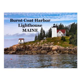Burnt Coat Harbor Lighthouse, Maine Postcard
