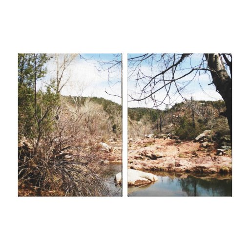 Burnt Creek 2 Side by Side Wrapped Canvas Gallery Wrap Canvas